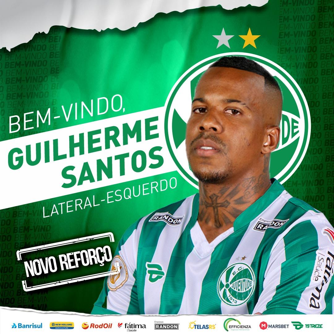 Juventude confirma contratação do lateral Guilherme Santos